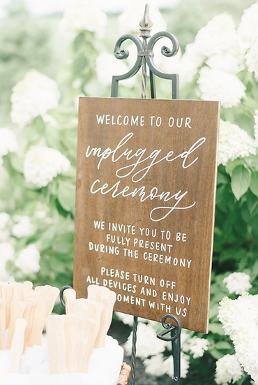 Unplugged Ceremony - Wooden Sign