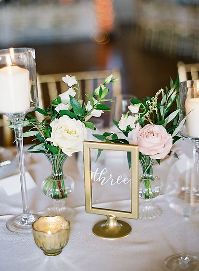 Gold + Glass Standing Table Numbers