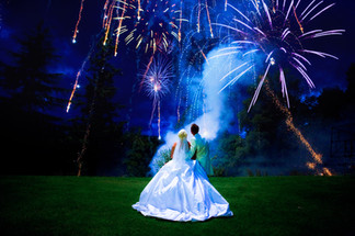 wedding pictures of fireworks Romantic Lindeth Howe