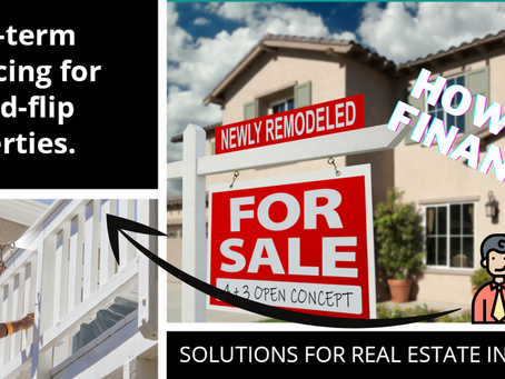 How To Finance Fix and Flip Real Estate Properties