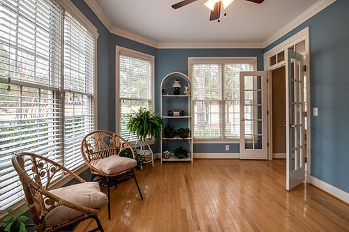 Fauxwood Blinds - Entry Room - Signature