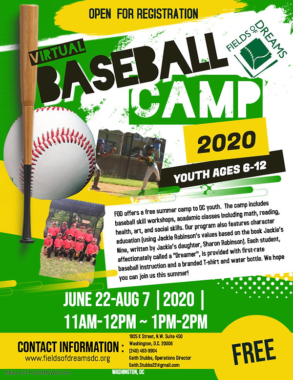 Copy of Baseball Camp Flyer Poster - Mad