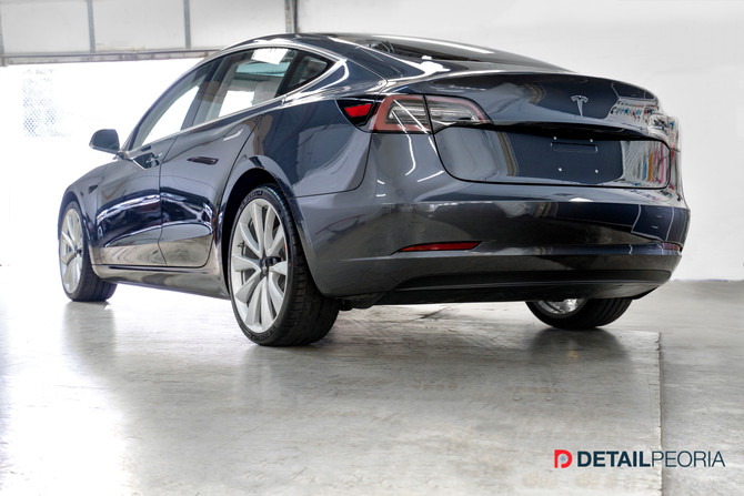 2018 Tesla Model 3 - New car prep, Clear bra, and Ceramic Coating of paint, film, wheels, and glass