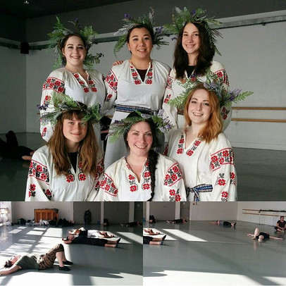 Members of the Dovbush Dancers, at the 2016 DanceLab studio showing rehearsal