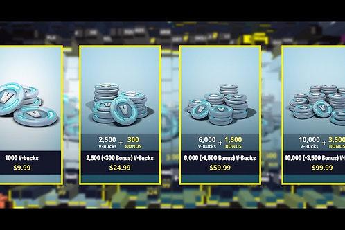 Fortnite Vbucks Package - 15,000 Vbucks
