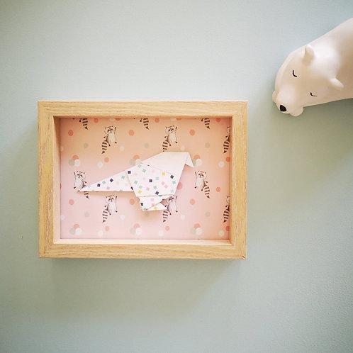 Cadre mesange raton laveur