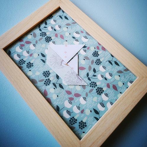 Cadre origami voilier végétal