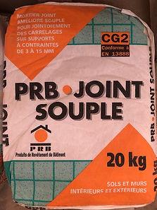 Mortier joint amélioré souple pour jointoiement des carrelages sur supports à contraintes de 3 à 15mm 20Kg