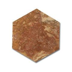 Travertin Tr Tas Scabos Hexagonal 15x15x1