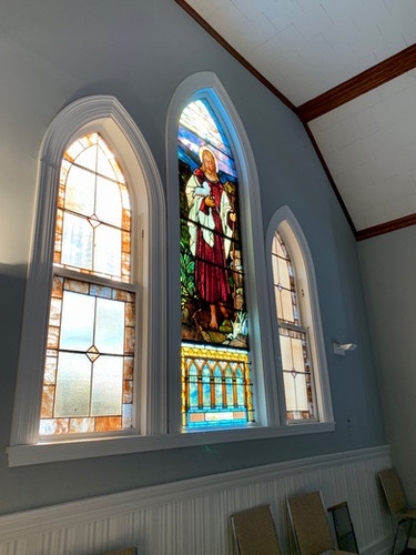 Stained Glass Windows in Balcony