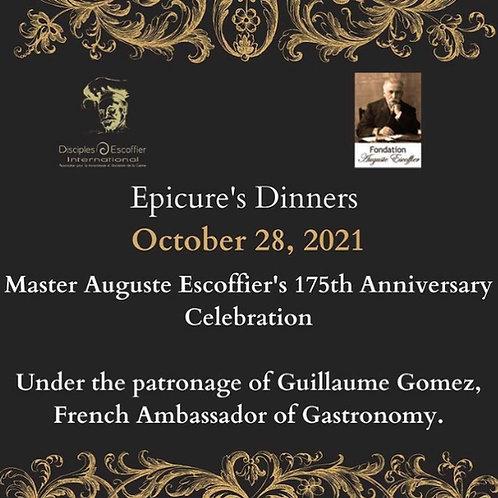 Epicure's Dinner 28 October 2021