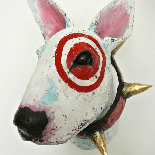 Bull terrier with spiky collar
