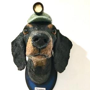 Digging dachshund