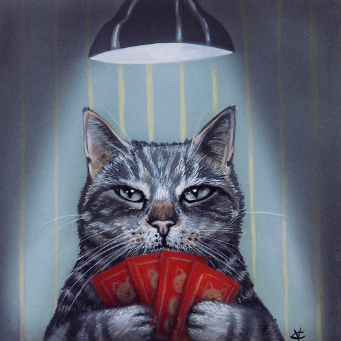 Terence had been practising his poker face