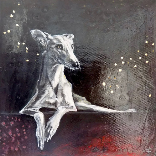 Greyhound painting called Serenity