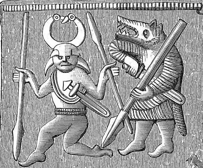Odin spear dancer and ulfhednar