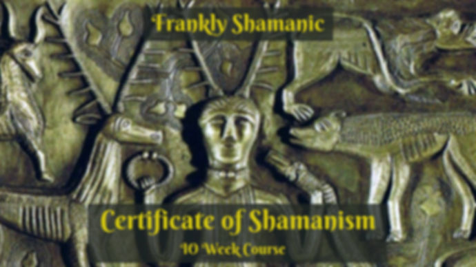 Certificate of Shamanism Melbourne Frankly Shamanic