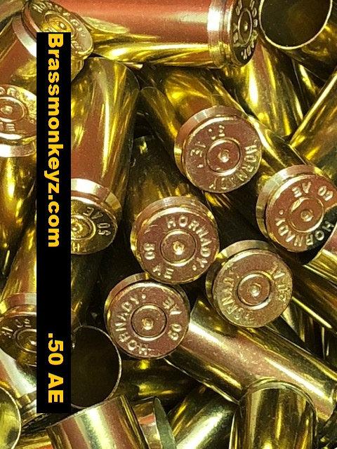 250 Hornady 50 AE Brass 1X fired