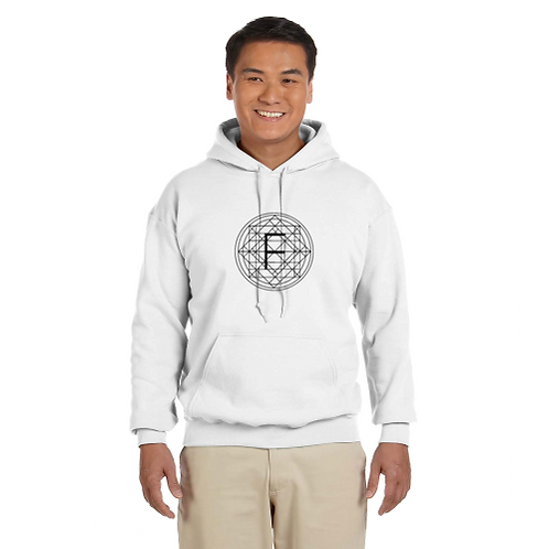 White Flo Vortex Hooded Sweater