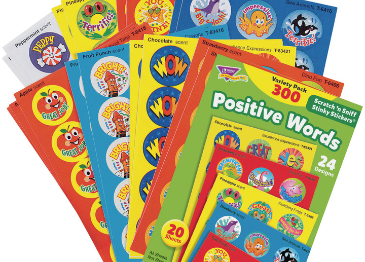 Positive Words Scented Stickers