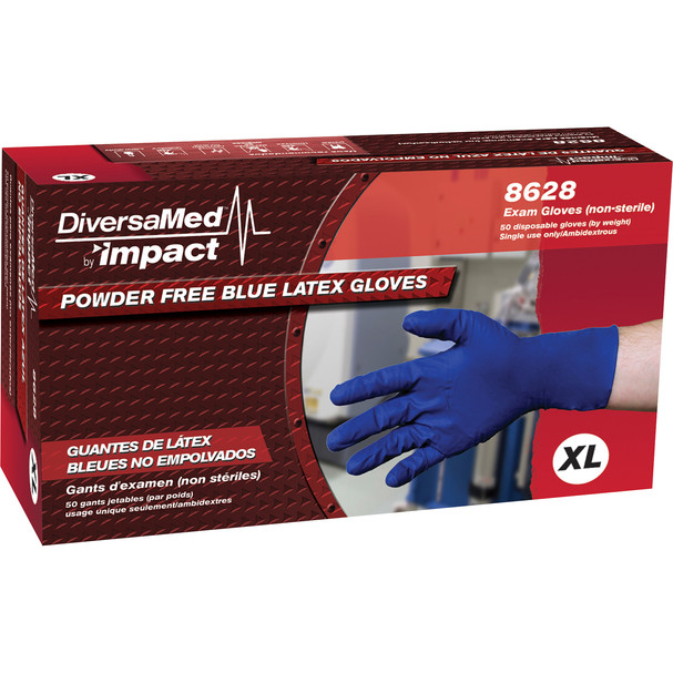 **OUT OF STOCK** $10.65 BX – DiversaMed Powder Free Blue Latex Gloves -
