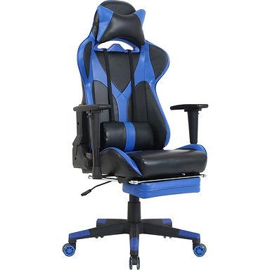 Blue Gaming Chair W/Lumbar
