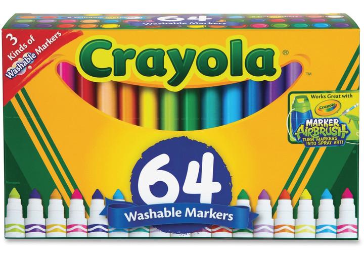 Crayola Washable Markers, 64 Ct