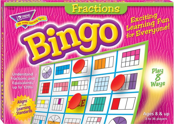 Bingo Fractions Learning Game