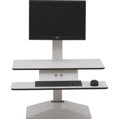 White Monitor Riser With Stand