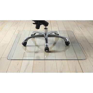 "Tempered Glass Chairmat - 50""x 44"""