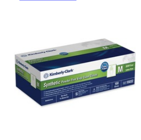 **OUT OF STOCK** $11.65 BX – Halyard Synthetic Plus PF Vinyl Exam Gloves, Size Medium -