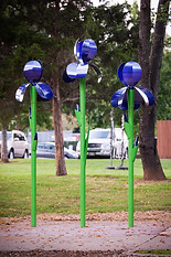 Artist Designed Bike Rack: City Irises