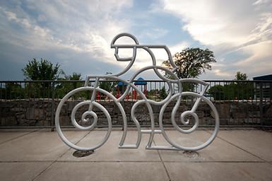 Artist Designed Bike Rack: Lyrical Rider