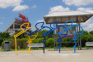 Artist Designed Bike Rack: The Riders