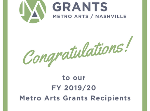 Metro Arts Announces Grant Awards for Fiscal Year 2020