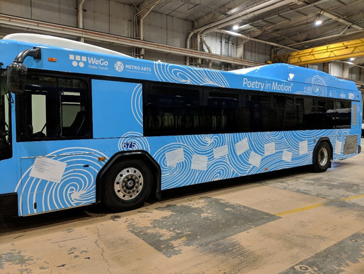 Poetry in Motion® Rolls Onto Nashville Transit Shelters, Poetry Bus