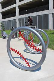 Artist Designed Bike Rack: Ground Ball