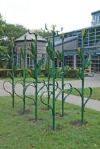 Artist Designed Bike Rack: Corn