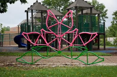 Artist Designed Bike Rack: Lotus