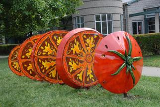 Artist Designed Bike Rack: Tomato