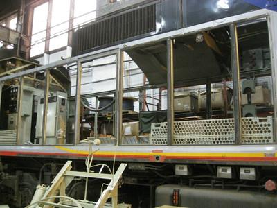 F59PHI Locomotive Rebuild Long Hood Area Reconditioning