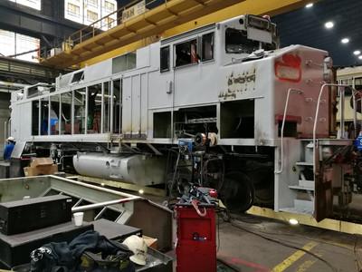F59PH Locomotive During Rebuild