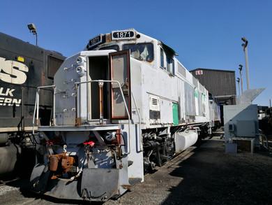 Locomotive Exterior During Rebuild
