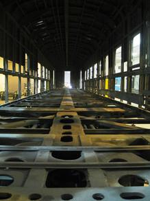 Railcar Interior During Refurbishment.