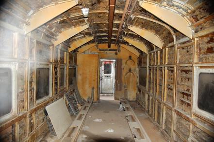 Railcar Interior Before Refurbishment.