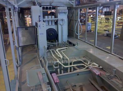 Locomotive Interior During Rebuild
