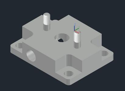 Railcar #8 Vent Valve Adapter Plate Model