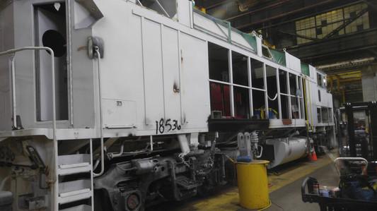 F59PH Locomotive Long Hood Area Reconditioning