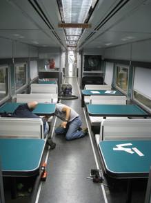 Railcar Interior During Refurbishment