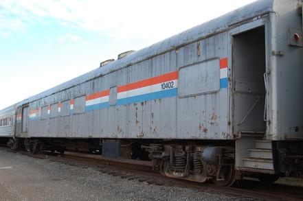 Railcar Exterior Before Refurbishment.